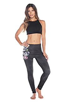 WITH Women's Skort Leggings Peony Flower