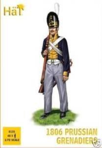 hat 1:72 1806 prussian grenadiers model figures 8135