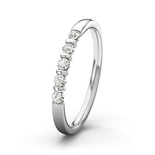 21DIAMONDS Women's Ring Millie Ct Brilliant Cut Diamond Engagement Ring - Silver Engagement Ring