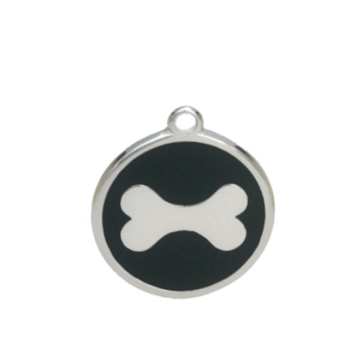 PetTouchID-Smart-Dog-ID-Tag-Engrave-QR-Code-GPS-Location-Black