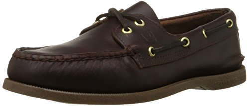 Sperry Authentic Original 2-Eye, Scarpe da Barca Uomo, Marrone (Amaretto), 42 M