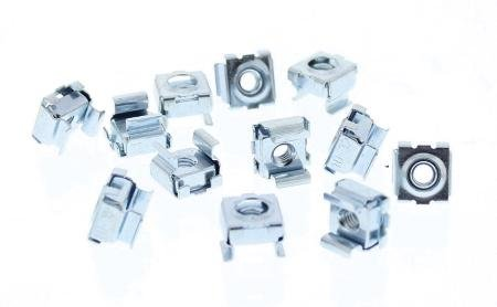 Cage Nut 25 Pack 10-32 For Square Punched Rack Rail With Headphones