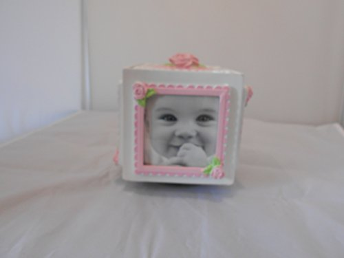 First Impression Musical Keepsake Photo Cube Pink - 1