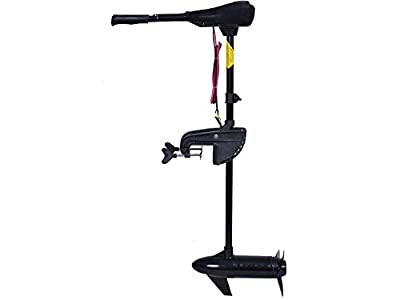 Goplus Electric Trolling Motor 46/55/86 LBS Thrust Transom Mounted 8 Speed with Adjustable Handle for Fishing Boats Freshwater and Saltwater Use