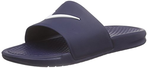 Nike - Benassi Shower Slide, Infradito uomo, color Blu (Midnight Navy/White 410), talla 41