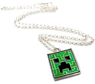 Minecraft Creeper Pendant Necklace by MIC