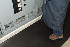 Corrugated Switchboard Mat 36' X 75' (1/4 Thick) Black