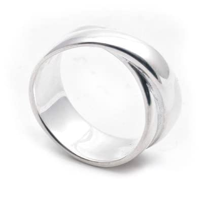 Men's Silver Wrap Ring by Helena Rohner (Small)