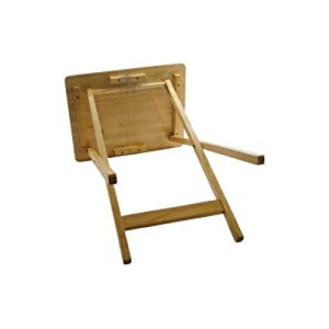 Anika Rubberwood Folding Wooden TV Table With Wood Pine Finish - Ideal For T.V. Dinners