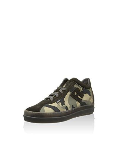 Ruco Line Sneaker Alta [Verde Camouflage/Nero]