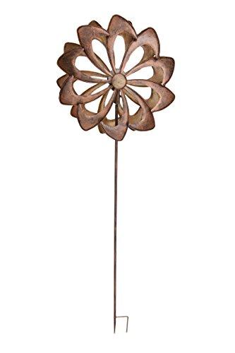 home-2-garden-507954-shining-solar-wind-spinner-oro-rosa