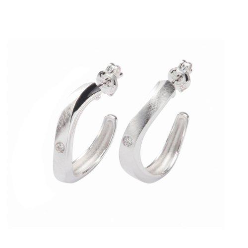 Fossil Damen-Creolen 925 Sterling Silber JF15341040
