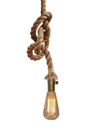 Hängelampe Vintage Taulampe inkl Leuchtmittel Retro Pendelleuchte Seil Antik