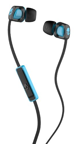 Skullcandy Smokin' Buds 2 with Mic1 EarBuds (Black/Hot Blue)