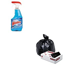 KITDRA90135EAJAGG3339HBL - Value Kit - Jaguar Plastics Low-Density Commercial Can Liner (JAGG3339HBL) and Windex Powerized Glass Cleaner with Ammonia-D (DRA90135EA)