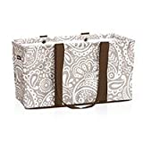 Thirty One Large Utility Tote 3121 Taupe Playful Parade