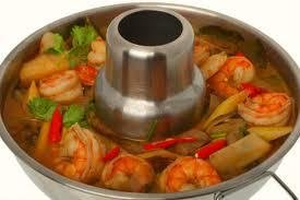 Aluminum Thai Hot Pot Tom Yum Serving Bowl 22cm.