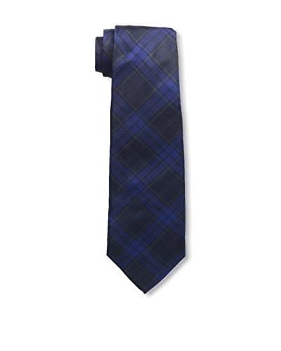 Kiton Men's Plaid Tie, Blue