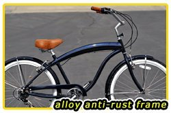 Aluminum frame, Fito Modena EX Alloy Shimano 7-speed - Midnight blue, men's Beach Cruiser Bike Bicycle Micargi Schwinn Firmstrong Nirve Style