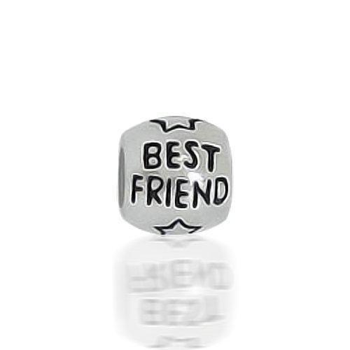 Bling Jewelry Best Friend Star Barrel Sterling Silver Charm Bead Fits Pandora