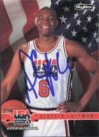 Derrick Coleman USA Team - New Jersey Nets 1994 Skybox Autographed Hand Signed... by Hall+of+Fame+Memorabilia
