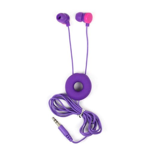 Aokdis Unique Fashion Doughnuts Style In-Ear Earphone Headphone For Iphone/Ipod/Htc/Pc/Samsung (Purple)