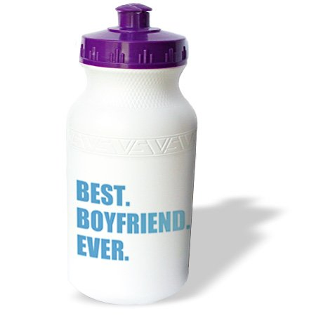 Wb_179710_1 Inspirationzstore Typography - Blue Best Boyfriend Ever Text Anniversary Valentines Day Gift For Him - Water Bottles