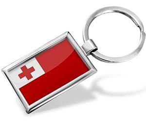 "Keychain ""Tonga Flag"" - Hand Made, Key chain ring"