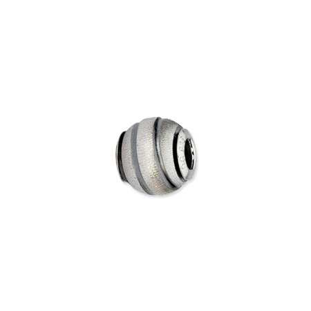Grey Striped Sterling Silver Laser Cut Charm