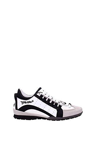 Sneakers Dsquared2 Herren Leder Weiß, Schwarz und Grau W16SN434715M084 Weiß 43.5EU thumbnail