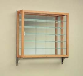 heirloom five shelf wall mounted display case. Black Bedroom Furniture Sets. Home Design Ideas