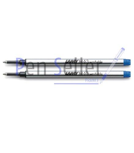 Lamy: Grande Recharge Rollerball M63: Couleur: Bleu, Taille: M, Lot de 2.