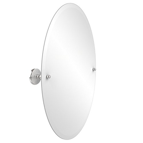 Allied Brass Pmc-91-Pc 29-Inch X 21-Inch Oval Tilt Mirror, Polished Chrome front-719625
