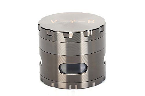 Large Spice Tobacco Herb Weed Grinder - Four Piece with Pollen Catcher - 2.5 Inches - Premium Grade Aluminum(gray) (Kickass Torrent compare prices)