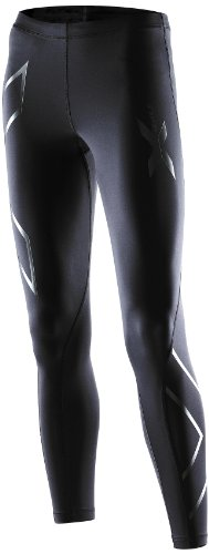 2XU Women's Compression Recovery Tights (Black/Black, Small)