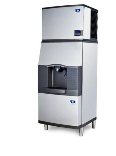 Manitowoc Id-0606A-Sfa-291 632 Lb Air-Cooled Full Cube Ice Machine W/ Sfa-291 Hotel Dispenser front-617560