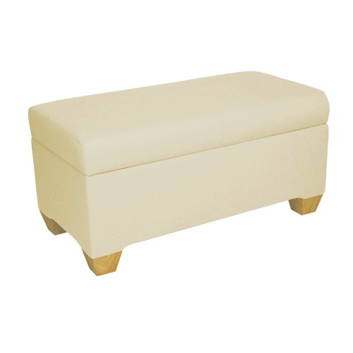 Skyline Furniture Walnut Hill Storage Bench in Twill Natural (Skyline Outdoor Furniture compare prices)