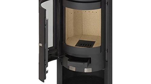 justus kaminofen mino glas 5 kw ext luftzufuhr runde form spar baumarkt. Black Bedroom Furniture Sets. Home Design Ideas