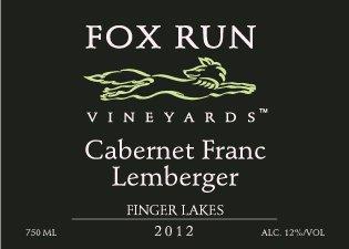 2012 Fox Run Vineyards Cabernet Franc/ Lemberger 750 Ml