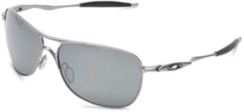 Oakley Mens Crosshair OO4060-06 Polarized Oval Sunglasses,Lead Frame/Black Iridium Polarized Lens,one size