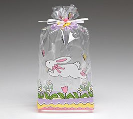Cello Bags Easter Jumping Bunny Large - Pack of 20