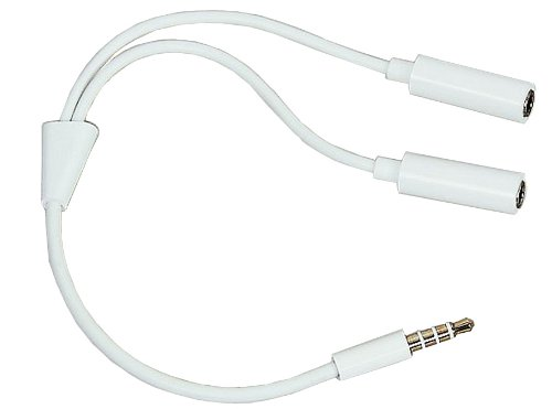 Ledhill 3.5-Mm Trrs Stereo Audio Cable Y Splitter