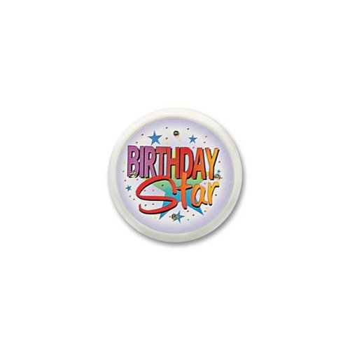 Beistle FB11 Birthday Star Flashing Button, 2-1/2-Inch