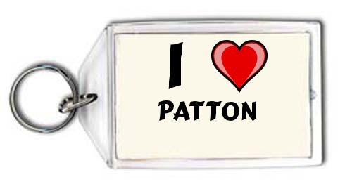 Schlüsselhalter mit Aufschrift Ich liebe Patton (Vorname/Zuname/Spitzname)