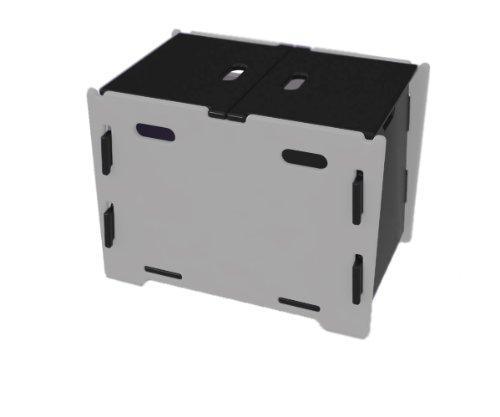 Legare Skateboard Boîte de rangement 60 x 44,2 x 42 cm-Noir/titane