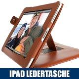 """Stylische - IPAD LEDERTASCHE - Braun - Schutzh�lle / Case Etui mit Standfunktion f�r Apple iPad - Bookstyle Tasche / Tischhaltervon """"SD-Trade"""""""