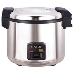 Welbon WRC-1078S 33 Cups Commercial Rice Cooker with Heavy Duty Non-Stick Inner Pot, Silver from 1234buy.com Inc