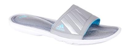 Buy adidas Ladies Tayuna FF Vario Slide,Aluminum2 Metallic Silver Light Aqua,10 B US by adidas