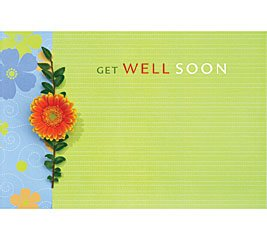 Get Well Soon Dasies Flower Enclosure Cards 50