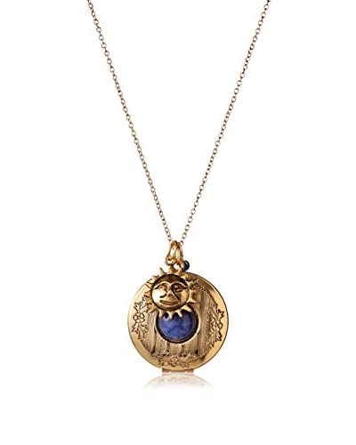 Alisa Michelle Round Locket with Sodalite Stone